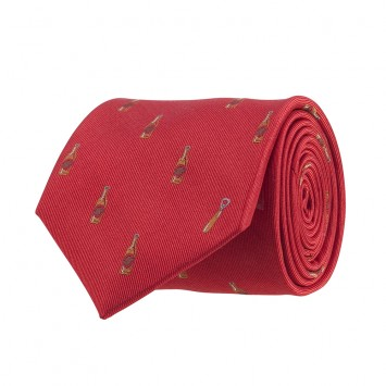 Beer Bottle/Opener Tie - Red